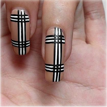 Burberry Nail Art Diy Nail Art Designs Nail Art Pinterest