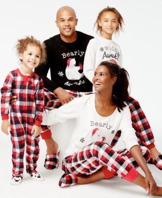 b8179f8a98e5 Family Pajamas Buffalo Plaid Bear Pajamas