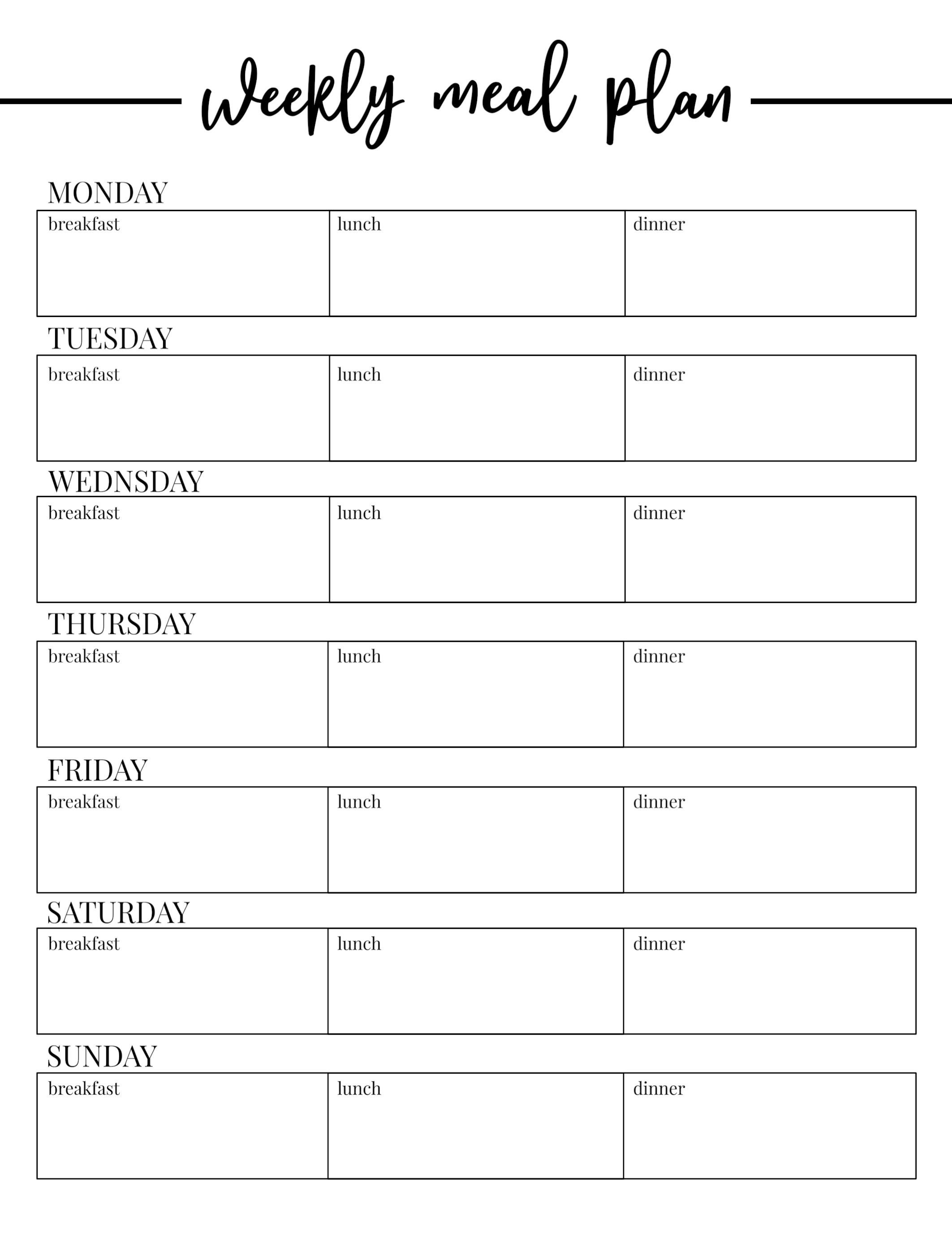 Unique Meal Planning Template Google Sheets exceltemplate
