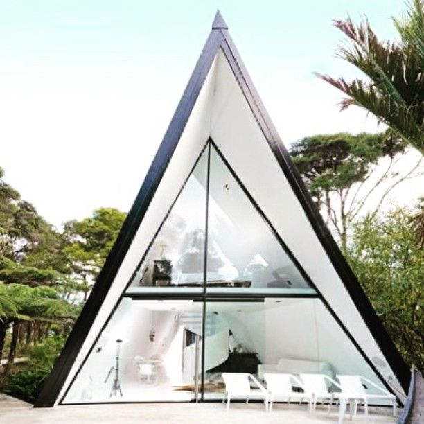 Modern and Luxurious Tiny A-frame Cabin - Image © Trademe.co.nz See ...