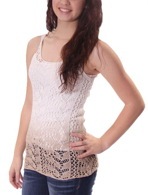Open Weave Tank with Button Back in Safari by Luv 4 Anouka