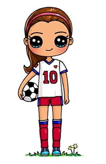 Soccer Girl Cute Animal Drawings Kawaii Kawaii Girl Drawings Cute Kawaii Drawings