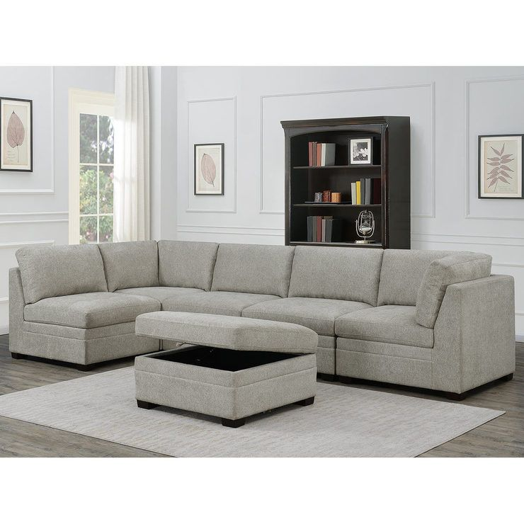 Best Thomasville Tisdale 6 Piece Modular Fabric Sofa Fabric 400 x 300