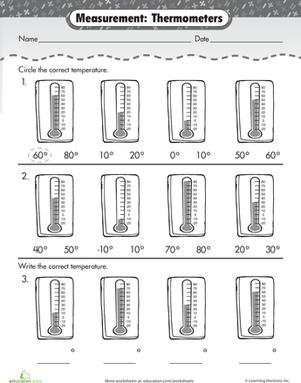 Temperature Worksheets 2nd Grade - Gamersn