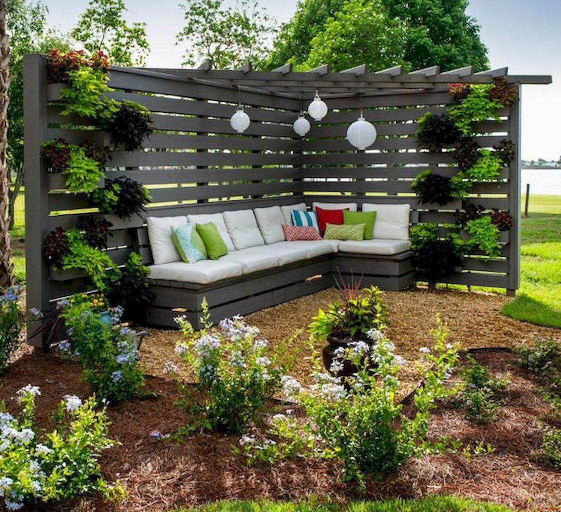 85 Easy Diy Backyard Seating Area Ideas On A Budget Crowdecor Com Backyard Landscaping Designs Backyard Seating Area Privacy Fence Designs Diy backyard entertaining area