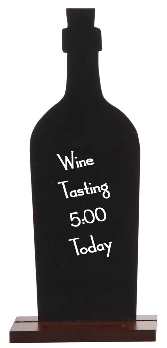 This black board wine bottle is the perfect accessory for any ...