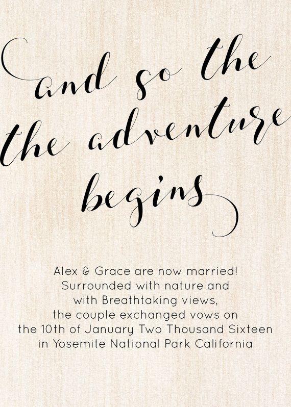 eloped announcements