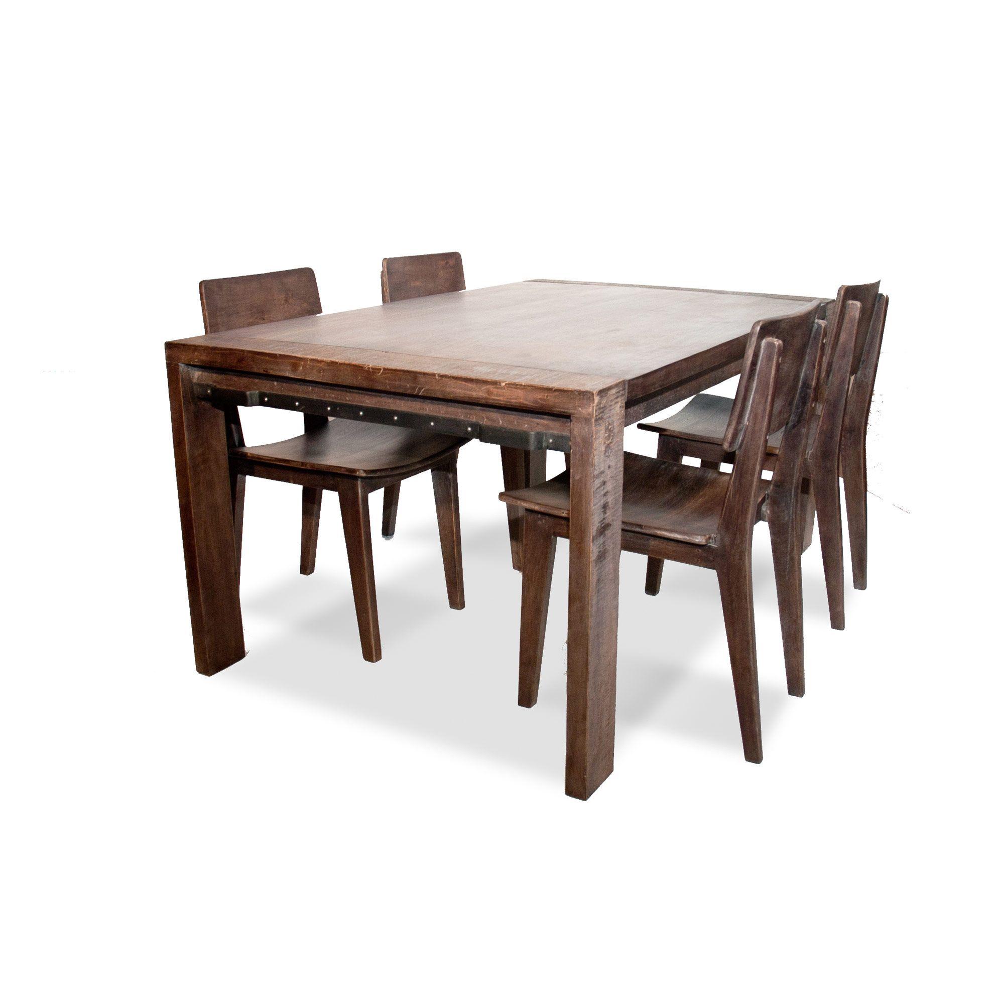 table de repas métal et bois la table de repas dock