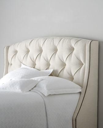 Beds/Headboards - \'Rami Wing\' Tufted Headboard - Neiman Marcus ...