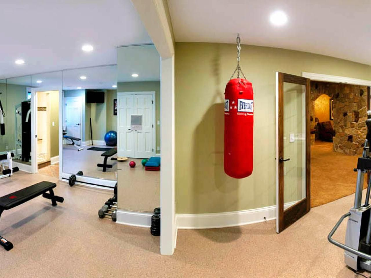 Exercise Rooms In Basements. Images Of Fun Basements And Game Rooms For The Family Home Remodeling Ideas For Basements Home Theaters More Hgtv
