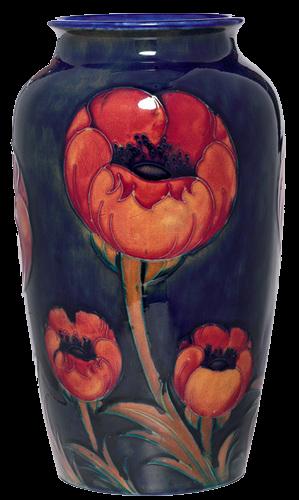 Moorcroft vase, large shouldered form with a Poppy pattern ...