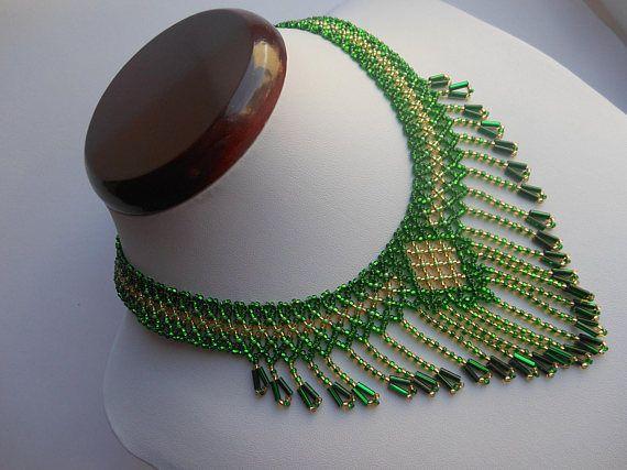 Collar Verde Collar Babero Collar Vintage Collar Collar
