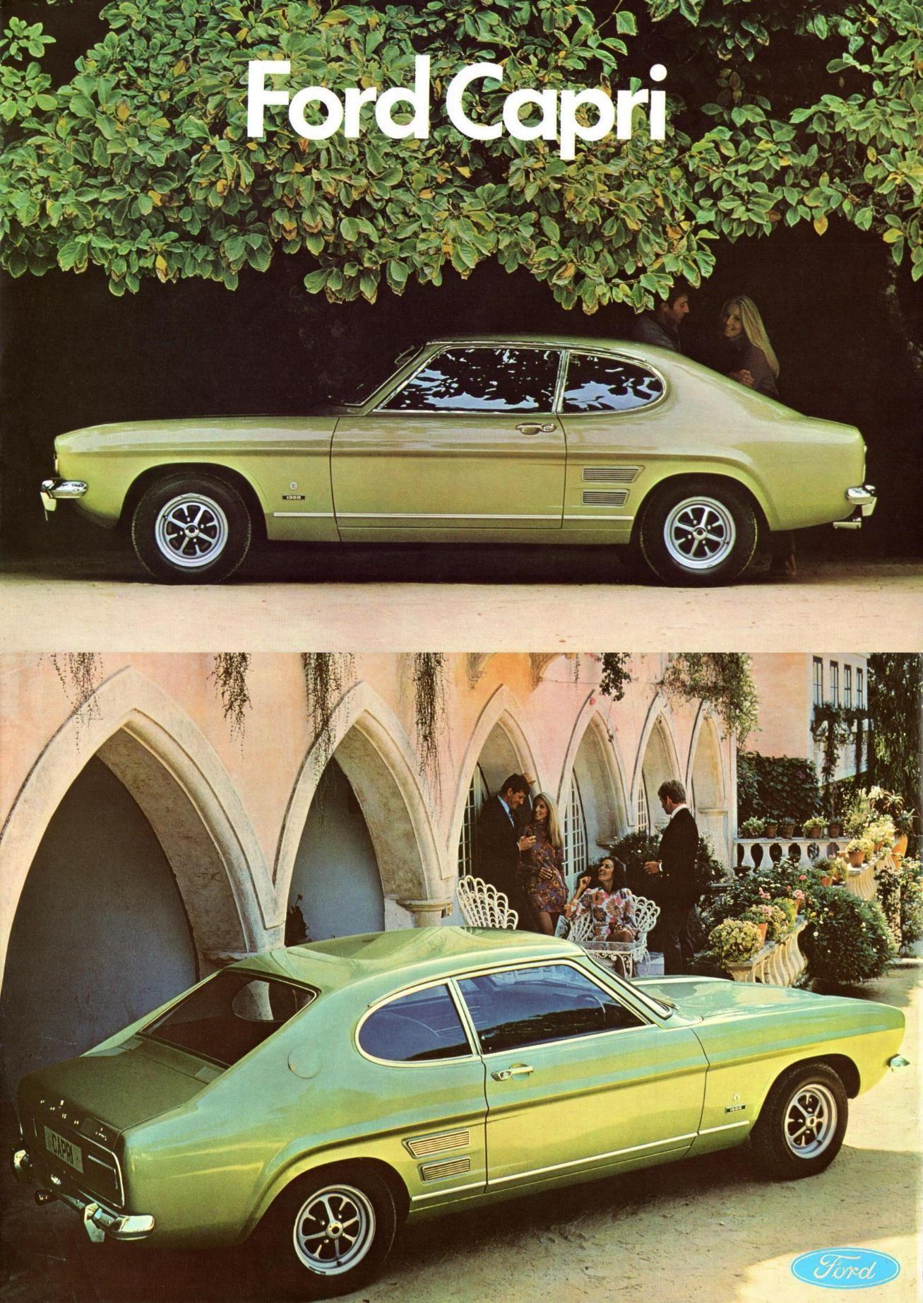 Ford Capri Xl Uk Brochure 1969 Ford Capri Ford Old Classic Cars