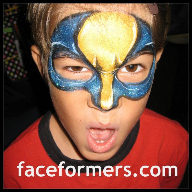 superhero face painting jpg face paint pinterest. Black Bedroom Furniture Sets. Home Design Ideas