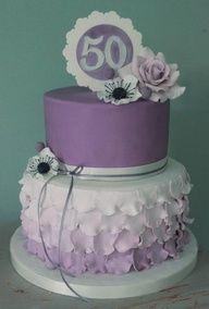 50th birthday cake  Cake by sweetassugarcakes