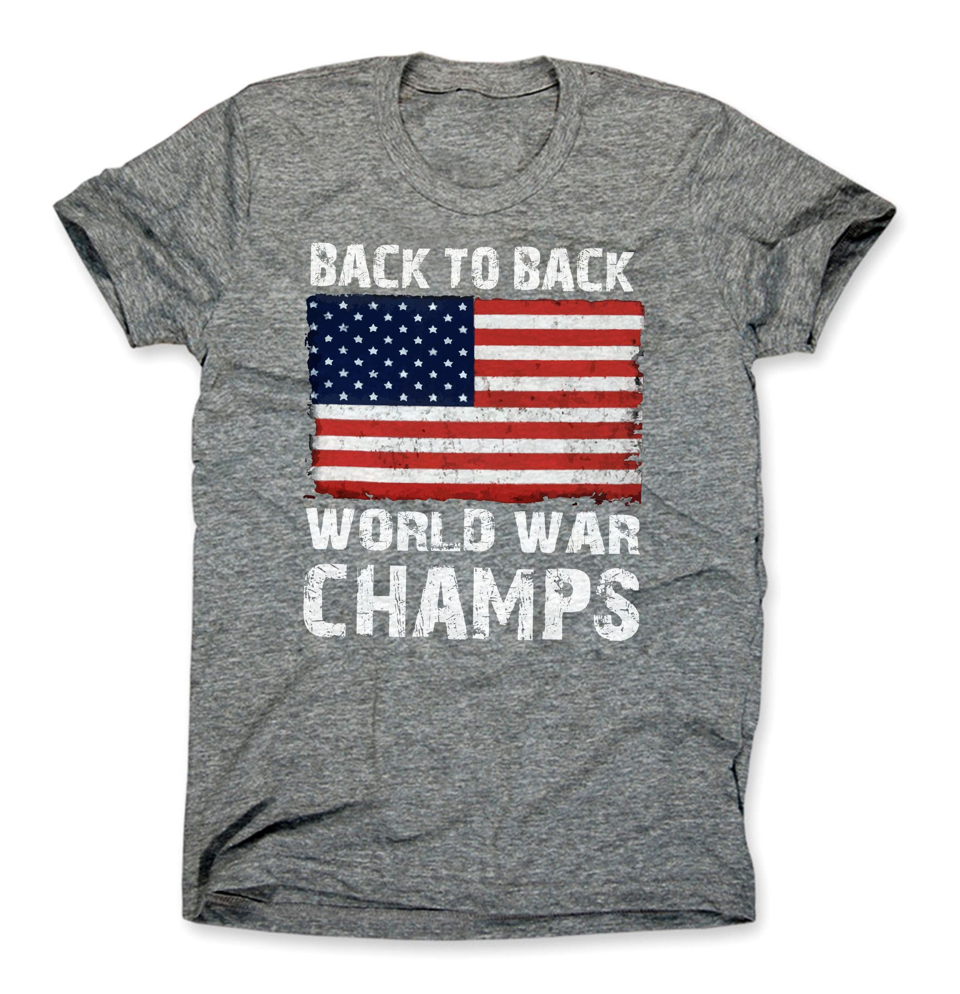 American Flag Back to Back World War Champs Decal//Vinyl