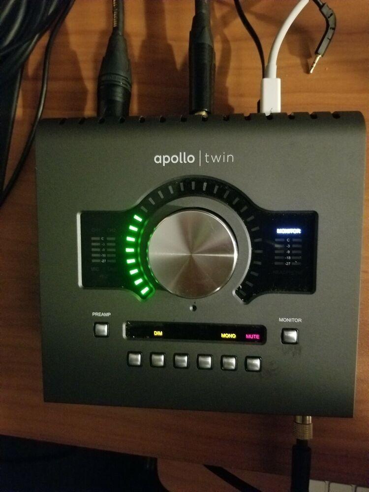 Universal Audio Apollo Twin Mkii Quad Thunderbolt Audio Interface Black Universalaudio Monitor Speaker Stands News Microphone Apollo