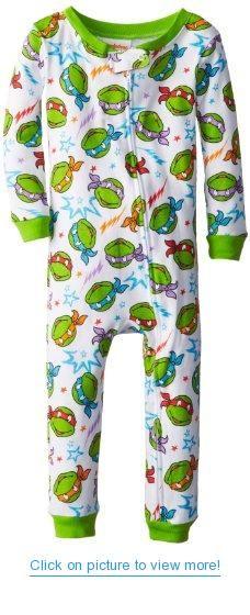 d82913ea0 Teenage Mutant Ninja Turtles Boys 2-7 Long Sleeve Footed Blanket ...