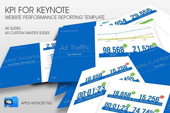 KPI Apple Keynote Template | Keynote, Presentation templates and ...