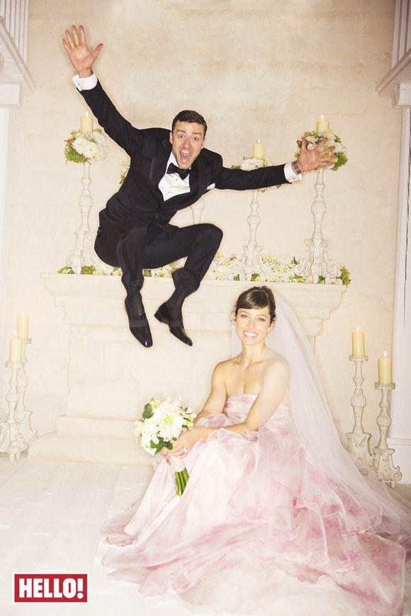 Justin Timberlake And Jessica Biel Wedding Photos Met Afbeeldingen Trouwjurk Bruiloft Bruid