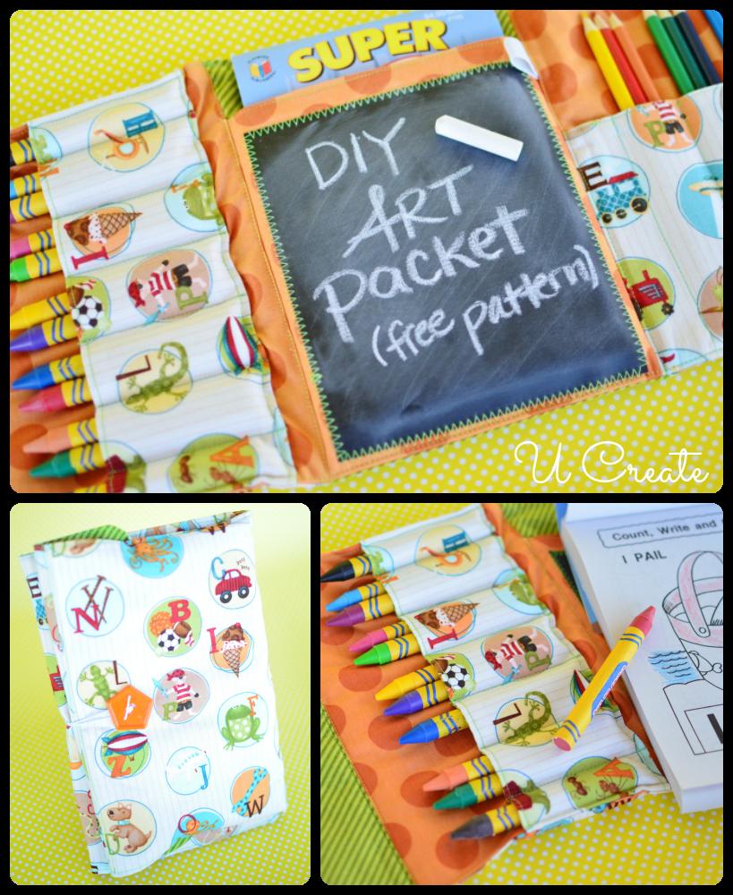 DIY Free Art Packet Pattern | Packen, Schnittmuster tasche und Nähen ...