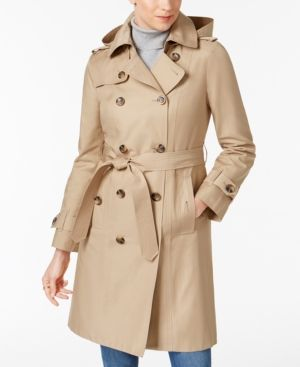 684a34dc8ef London Fog Petite Double-Breasted Trench Coat - Tan Beige P XXL ...