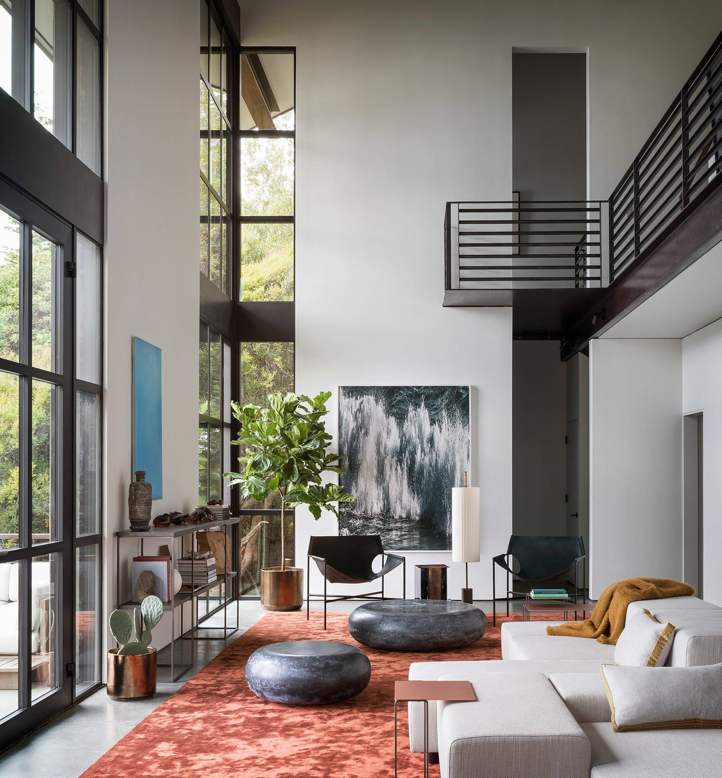 Modern Interior Decoration Living Rooms Ceiling Designs: False Bay Residence And Writer's Cabin By Olson Kundig