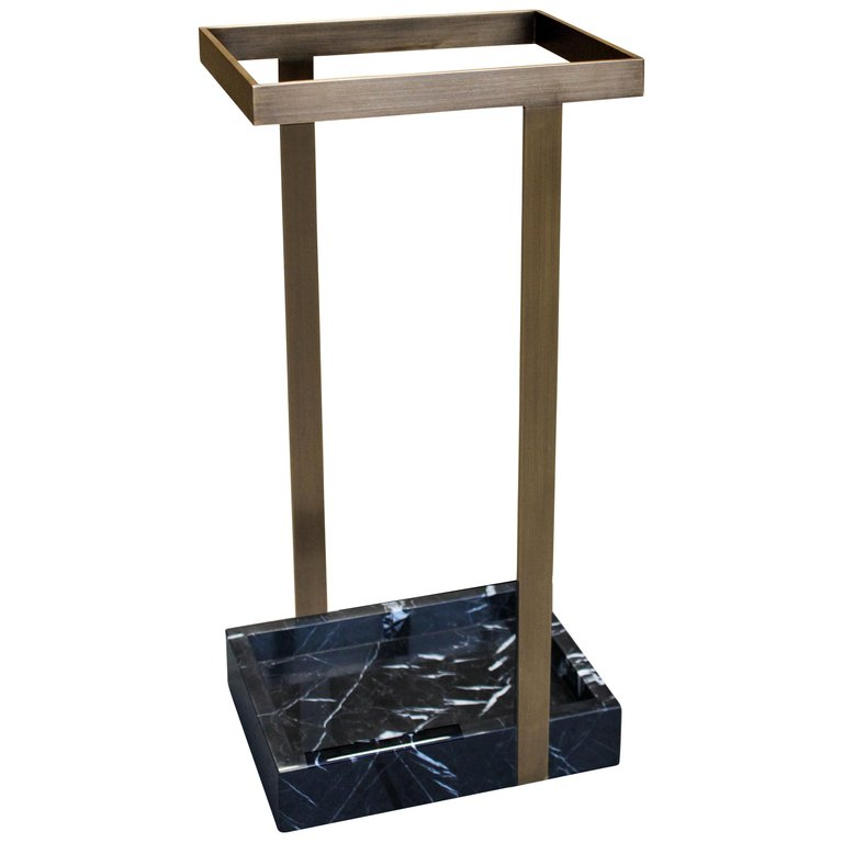 James Devlin Marble Bronze Umbrella Stand Modern American With Images Umbrella Stand