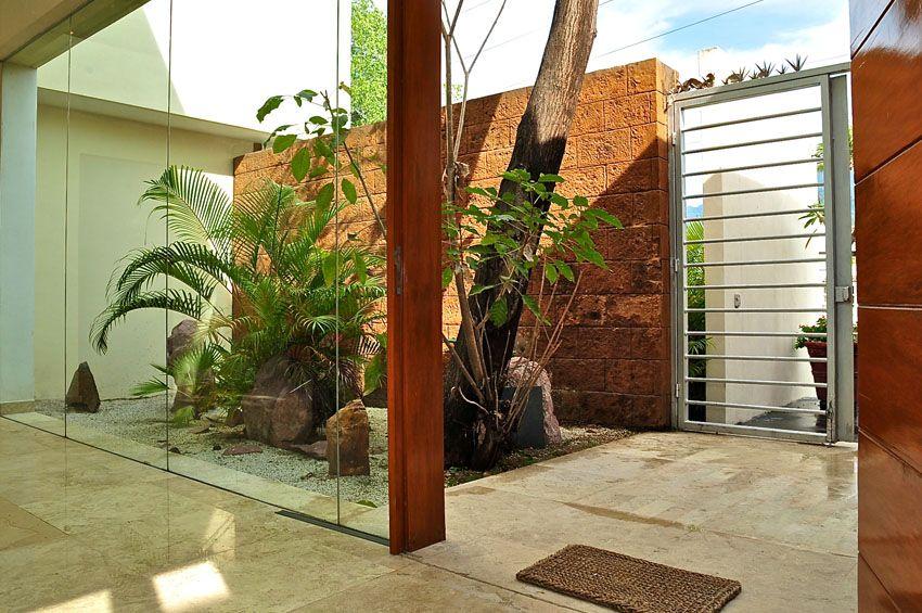 Casa Marlin Spacio Integral Arquitectos Puerto Vallarta Punta De Mita Y Riviera Nayarit Indoor Gardens Garden Pond Entrance