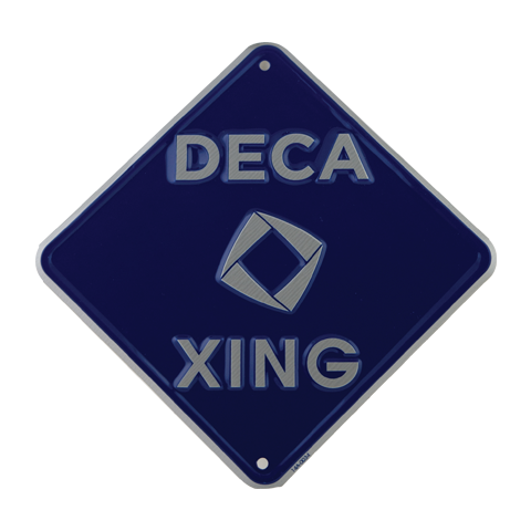 Deca Xing Sign Classroom Decor Classroom Silver Logo