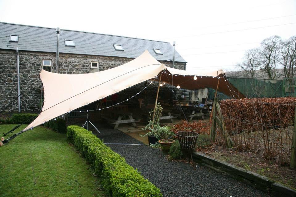 Tent & 15m x 10m Biege Stretch Tent set up @ BreckenhillBallyclare ...