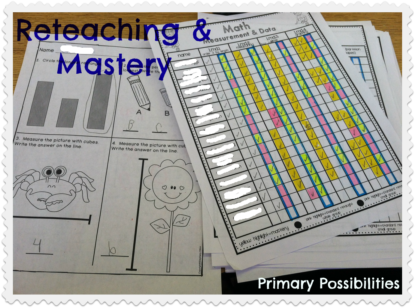 Reteaching And Mastery Tracking Sheets For First Grade Math Track Your Students Progress And