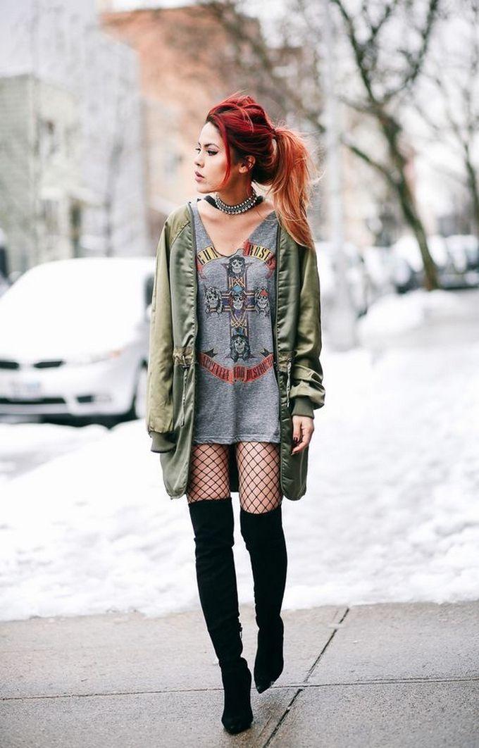 c3ad29e85 Look com meia calça arrastão, várias inspirações de como usar looks de  combinação de meia