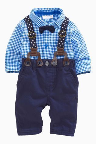 99e3b96ad2eed New 2016 autumn gentleman baby boy clothing set infant newborn baby clothes  long sleeved shirt + tie + overalls 3 pcs