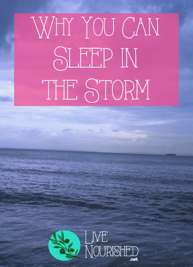 Do you struggle to rest while the storms of life are raging all around you? Learn from Jesus - here's why we can sleep in the storm...