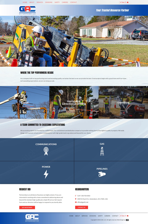 Construction Company Website Design Custom Web Design Website Design Construction Company