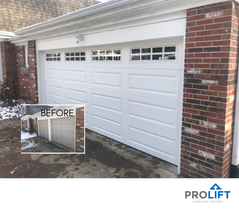 Question Can You Make My Two Small Garage Doors Into One Larger Door Answer Answer Door D Single Garage Door Garage Door Design Garage Door Styles