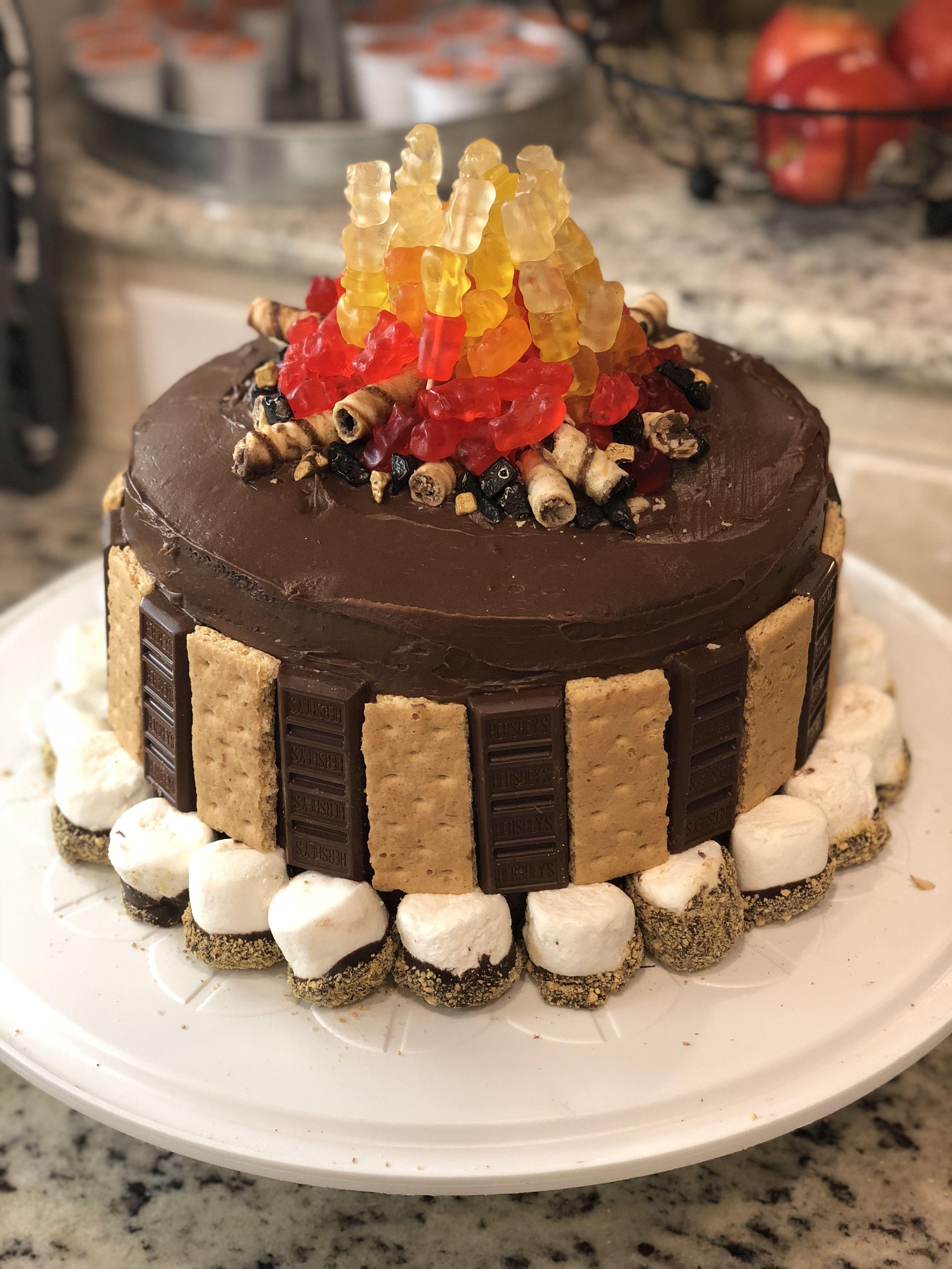Fine Campfire Cake Campfire Cake Camping Cakes Cupcake Cakes Birthday Cards Printable Nowaargucafe Filternl