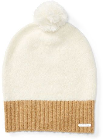 Ralph Lauren Two-Toned Knit Pom-Pom Hat- 7112style.website -  c07e667fa7e