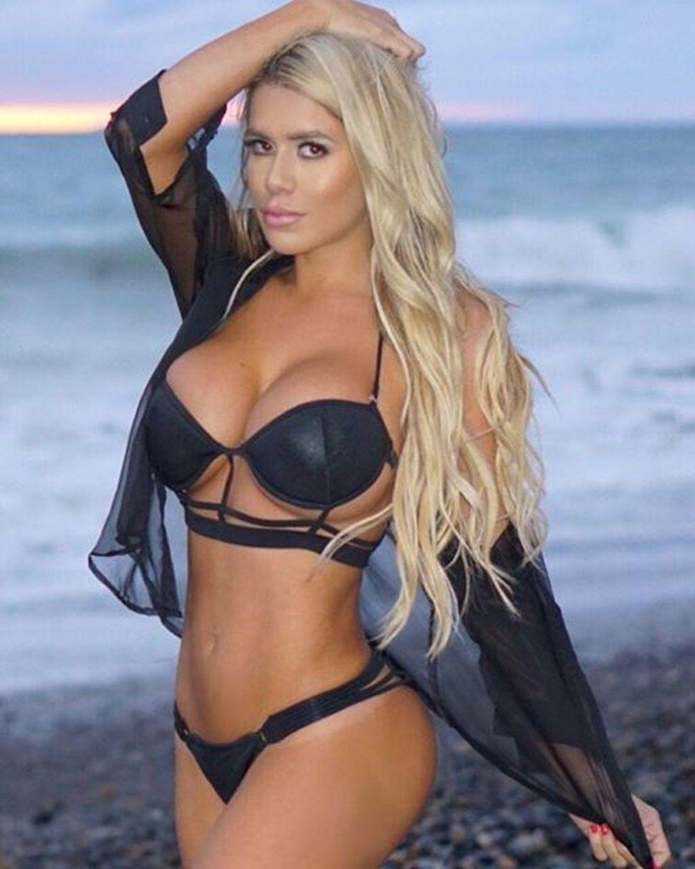 latina lingerie model