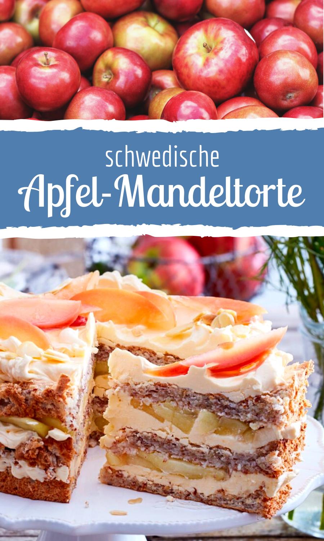Schwedische Apfel-Mandeltorte