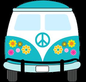 dibujos clipart digi stamps hippie van blue car imprimibles rh pinterest com