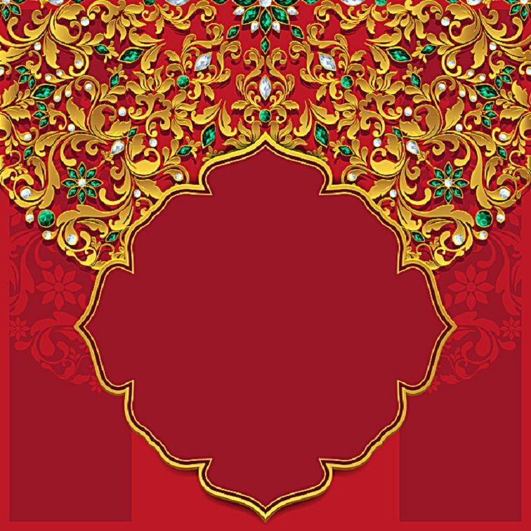 red wedding invitation card background