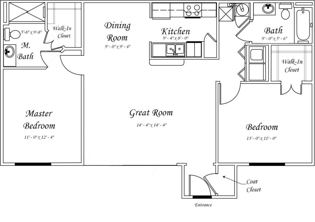 2 Bedroom Apartment Floor Plans Garage Garage apartment