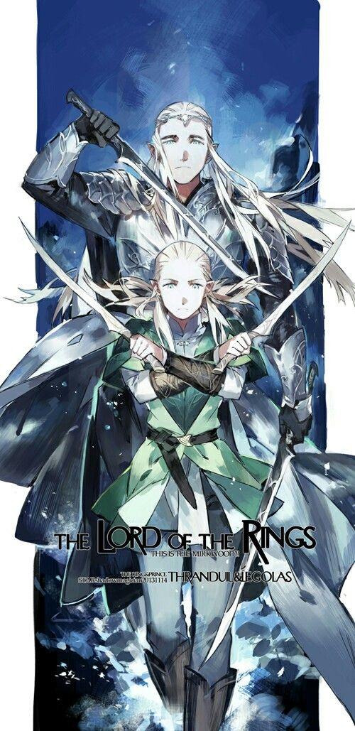 The Lord Of The Rings Anime Legolas Thranduil The Hobbit Movies Anime Legolas