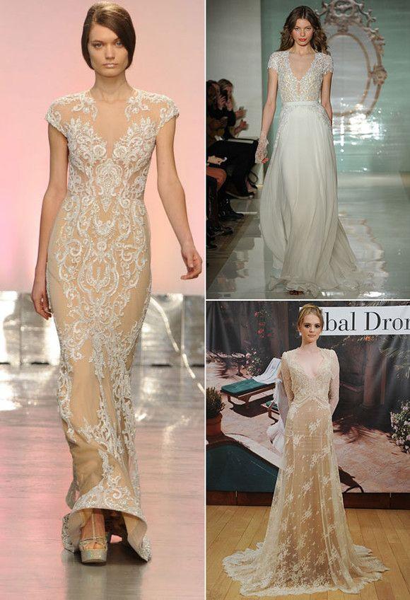 4 Rivini Reem Acra Inbal Dror Vintage Spitze Brautkleider ...