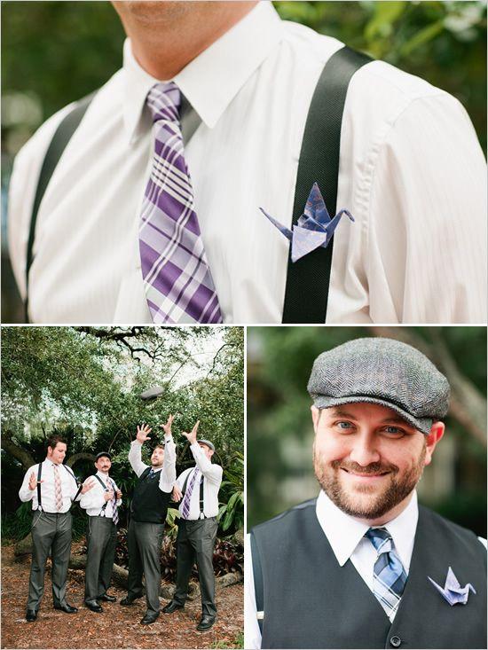 Love this purple plaid tie!