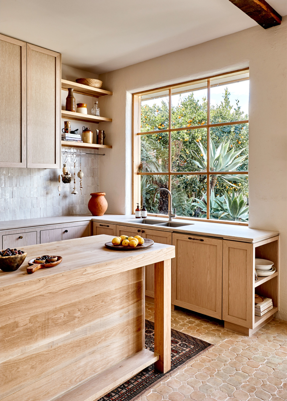Room of the Week :: Warm Woods & Old World Accents In this Minimal Kitchen - coco kelley coco kelley