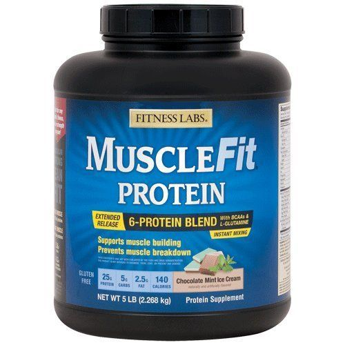 "Fitness Labs MuscleFit Protein Blend (5 Pound, Chocolate Mint Ice Cream) #proteinicecream ""The condition of the Fitness Labs MuscleFit Protein Blend (5 Pound, Chocolate Mint Ice Cream) you buy and its timely delivery are guaranteed under the Amazon A-to-z Guarantee."" #proteinicecream"