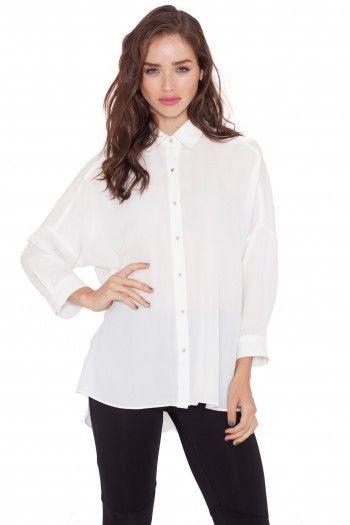 Eloisa Sheer Shirt white